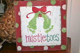 mistletoes feet painting. @Katie Schmeltzer Schmeltzer Dotson this is perfect for you. I think I'm going to do this with B.