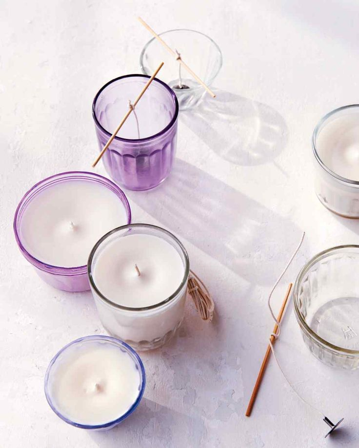 Beyond its appealing aroma, lavender has been shown to help relieve insomnia, stress, and anxiety. Martha Stewart Living crafts director Marcie McGoldrick was inspired to include it in the home-spa products on the pages of the magazine (and in the lip balm). Enjoy the relaxing scent with candles made from soy wax mixed with lavender essential oil.
