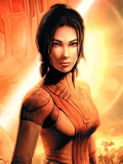 Bastila Shan - Love interest of Revan; she rescues him after Darth Malak destroys his ship. Prominently featured in Star Wars: Knights of the Old Republic. She is the ancestor of future Jedi Grand Master Satele Shan.