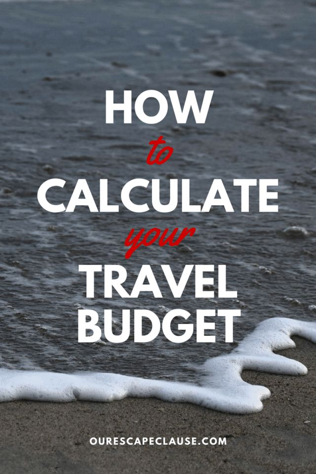 How to Calculate Your Travel Budget: click here for your step-by-step guide to getting the most out of your travel without stressing over money.