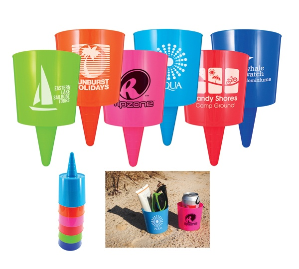 Cup with cone shape to hold drinks, media devices, glasses and more. Simply push into ground, sand or soft surface. Starting at $2.61
