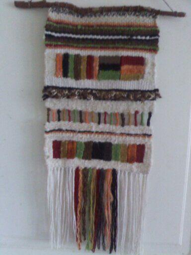 telar decorativo en lanas de chiloe