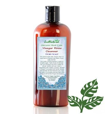 Vinegar Rinse Cleanser for hair....alcohol free, chemical free, cruelty free, gluten free, natural & organic, paraben free, sulfate free, vegan made in USA  $26.99 8oz