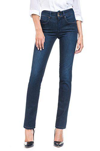 106aac81f8 Salsa - Jeans Push in Secret Soft Touch Jambe Slim délavage foncé - Femme -  Bleu