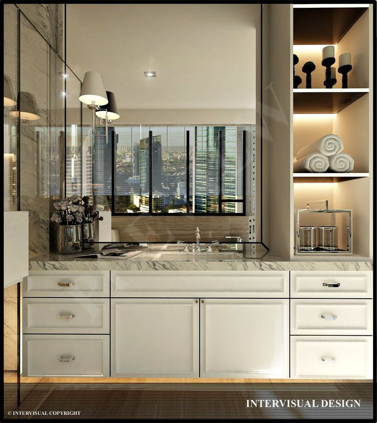 Inspirasi desain kabinet untuk kamar mandi   Portofolio By : Intervisual (Interior Designer di Sejasa.com)