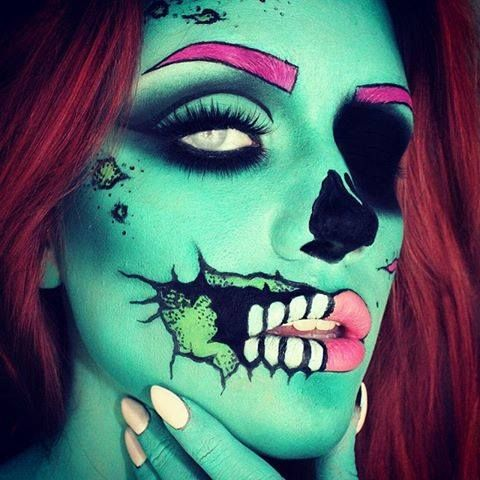 1000 ideas about awesome halloween makeup on pinterest halloween makeup halloween makeup. Black Bedroom Furniture Sets. Home Design Ideas