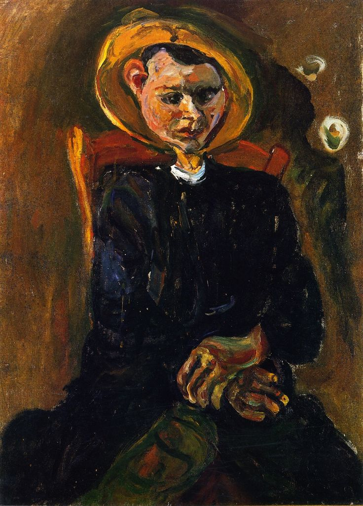 Chaim Soutine: Boy with yellow hat. ca. 1924. Private collection.