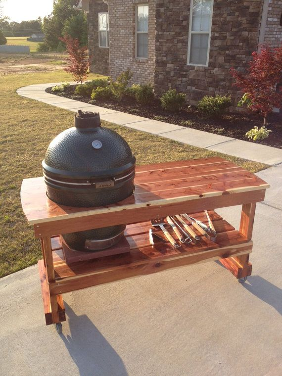 Big Green Egg table FREE SHIPPING by JJGeorgeFurniture on Etsy, $549.00