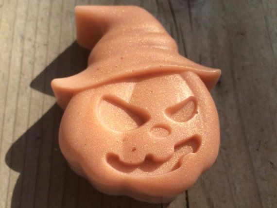 Scary Pumpkin natural soap with coconut oil and essential oils
