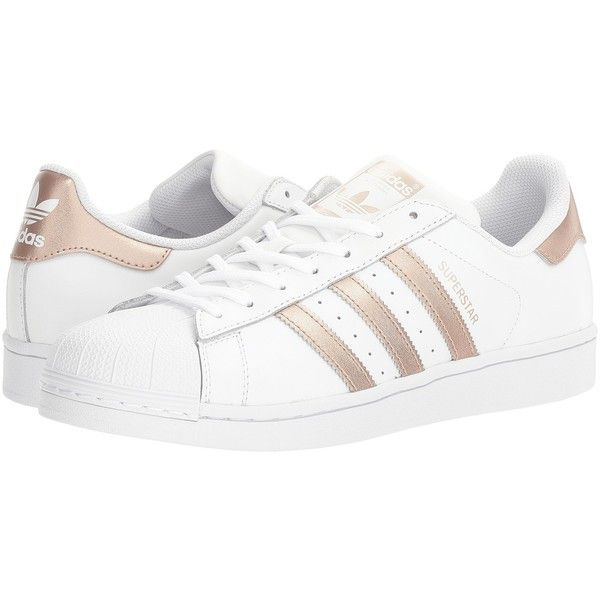 adidas Originals Superstar (Footwear White/Copper Metallic/White)... ( �  White Tennis ShoesWhite ...