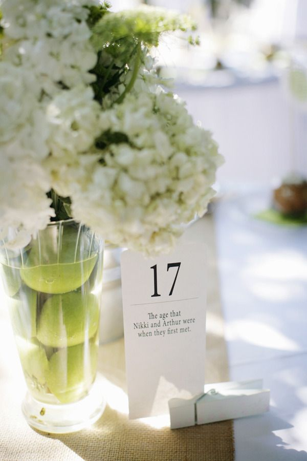Table Numbers - significant numbers & dates ;)   Photography by aldersphotography...: Wedding Tables, Cute Ideas, The Bride, Fun Facts, Tables Numbers, Centerpieces, Table Numbers, Flower, Center Pieces