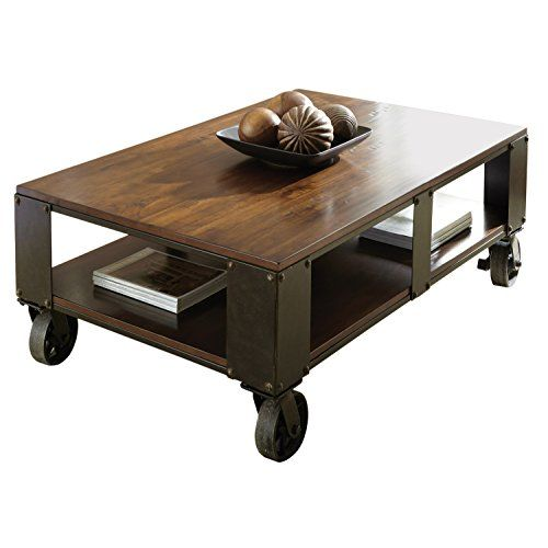 Steve Silver Company Barrett Cocktail Table With Casters, 52