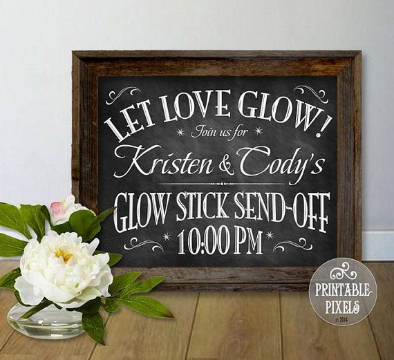 Glow Stick Send-Off Personalized Printable by PrintablePixels