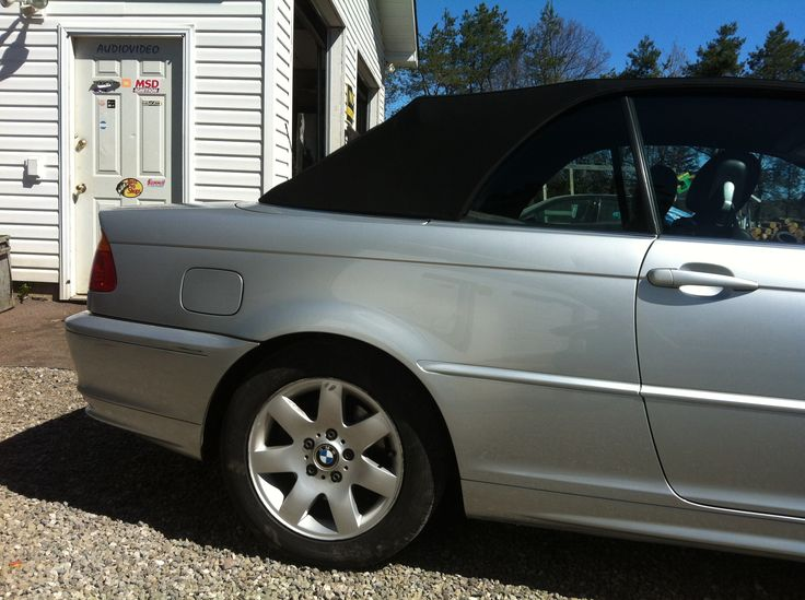 BMW 323 passenger rear quarter paint blend..