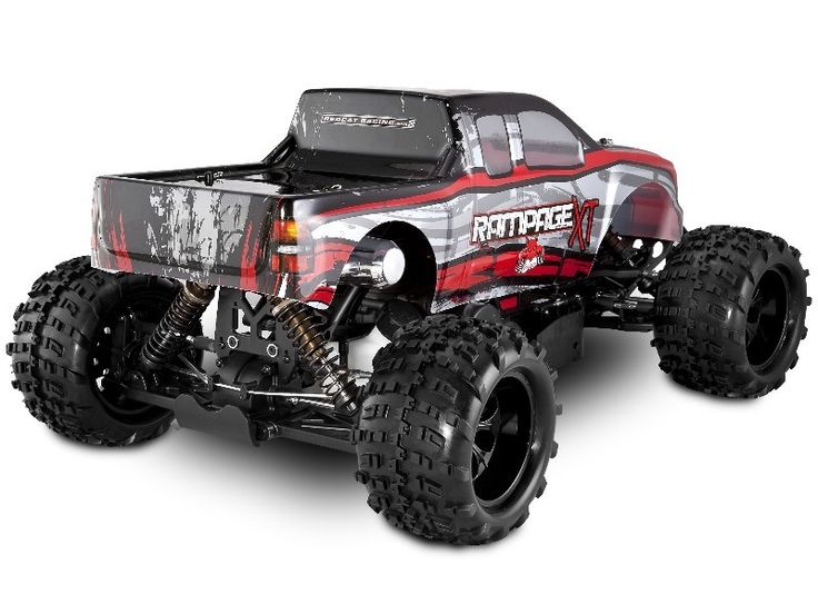 GAS POWERED RC CARS   Redcat Racing Rampage XT 1/5 Scale Gas Powered RC Car Truck (Red)