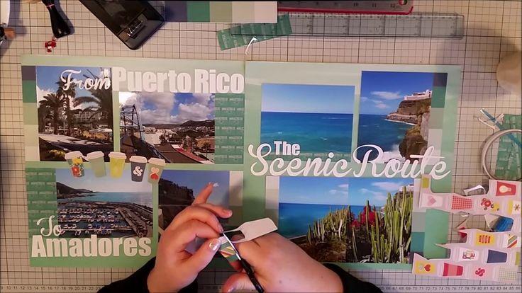 #367 The Scenic Route - Scrapbook Process