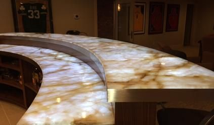 SLABlite For lluminating Onyx, Backlit Onyx And Backlighting Onyx Countertops
