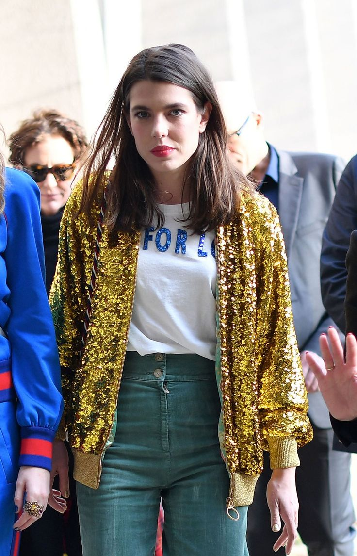 Charlotte Casiraghi Brings Royal Polish to Gucci's Front Row