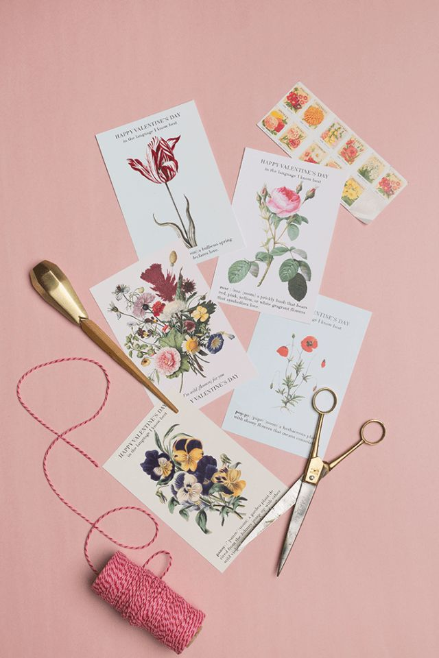 Language of Flowers printable Valentines 28 best