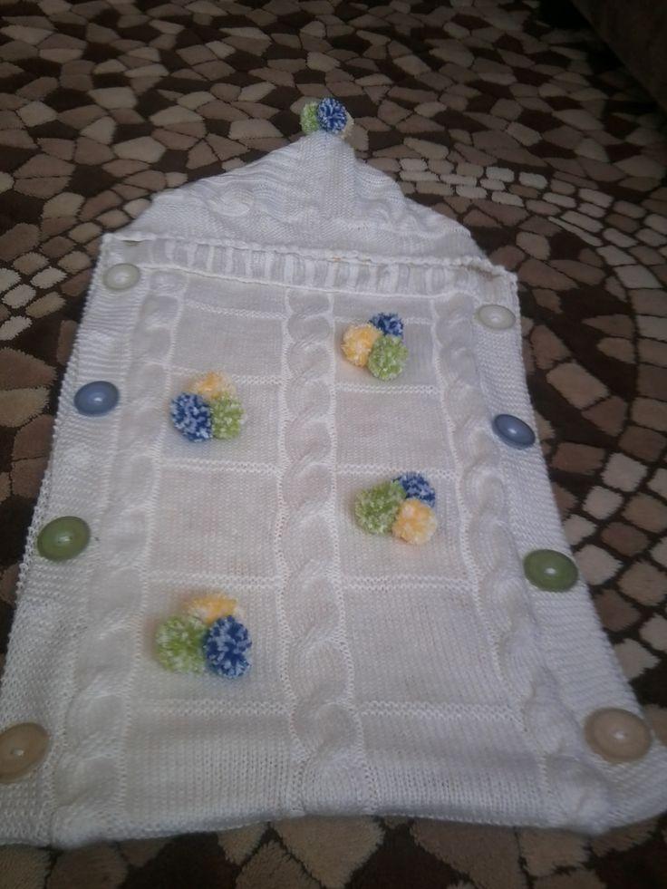 Kundak şeklinde bebek battaniyesi