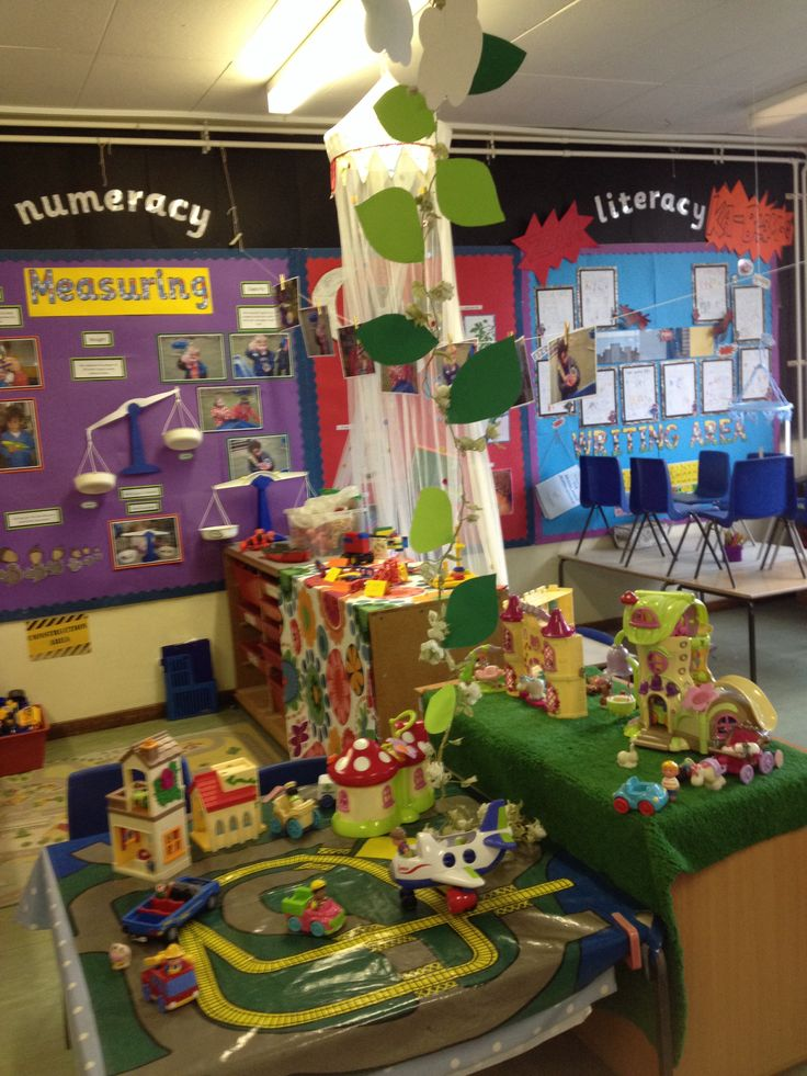 Reception Classroom Design ~ Jack and the beanstalk small world from my reception