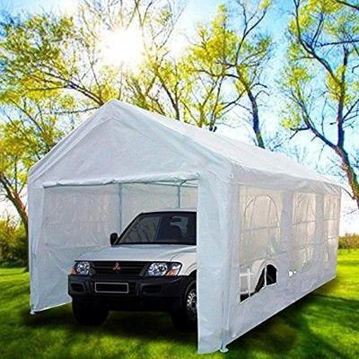 Peaktop 20 X10 Heavy Duty Portable Carport Garage Car Shelter