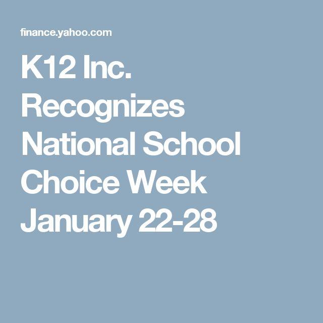 K12 Inc. Recognizes National School Choice Week January 22-28