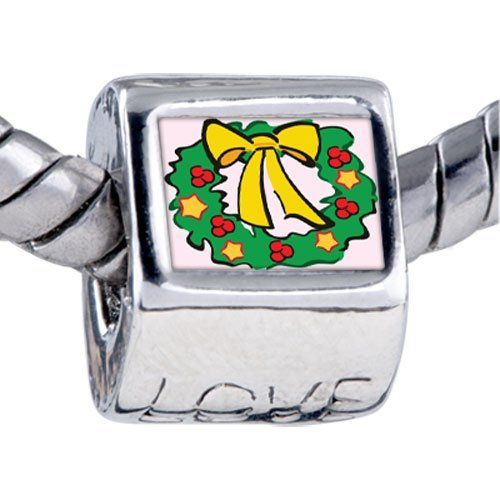 Pugster Bead Christmas Wreath Photo Beads Fits Pandora Bracelet Pugster. $12.49. It's the photo on the heart charm. Hole size is approximately 4.8 to 5mm. Fit Pandora, Biagi, and Chamilia Charm Bead Bracelets. Unthreaded European story bracelet design. Bracelet sold separately