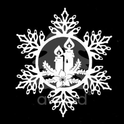 Sněhová vločka - svíčky