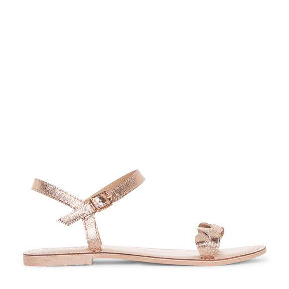 Sandales dorées - Monoprix White