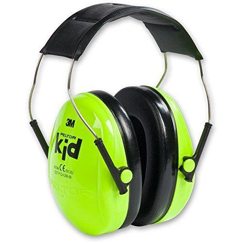 Casque antibruit PELTOR Kid, vert, référence H510AK-442-GB: Design moderne et léger Couleurs très visibles destinées à attirer l'attention,…