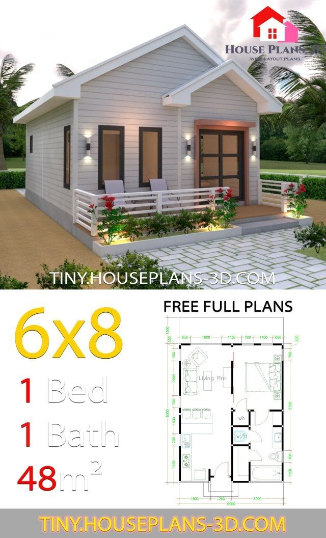 Studio House Plans 6x8 Gable Roof Tiny House Plans Simple House Plans Tiny House Plans Tiny House Design