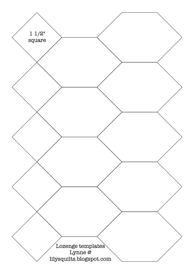 quilting hexagon templates free - 17 best images about english paper piecing on pinterest