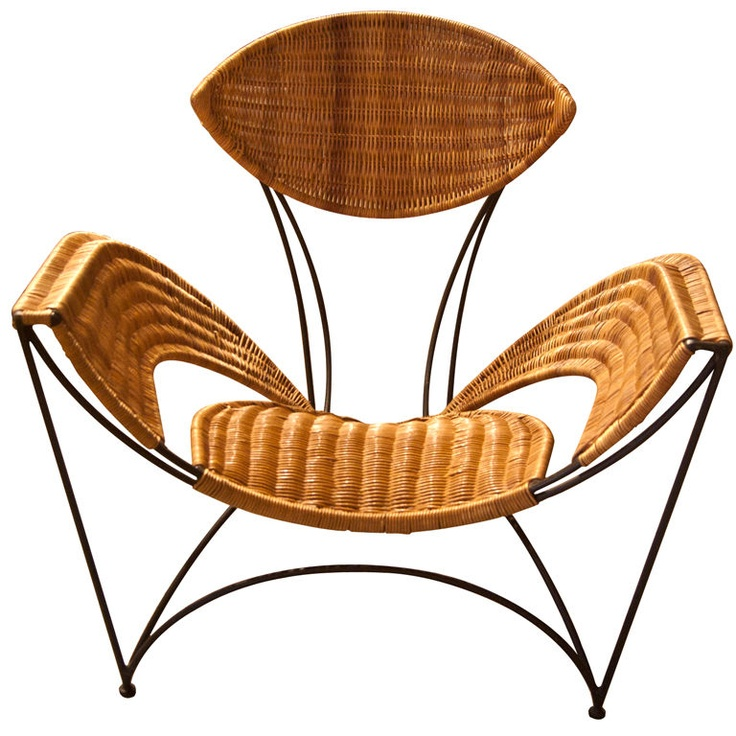 Rattan Leaf Shaped Chair ~ Two Of These.