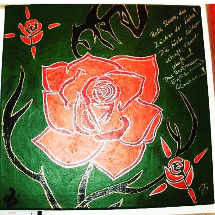 """""""Rote Rosen, das Zeichen der Liebe"""" . . . . . . . . . . . #skizzen #zeichnung #b…"""