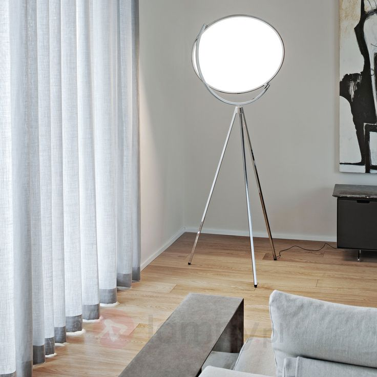 Superloon – designerska lampa stojąca, chrom 3510359