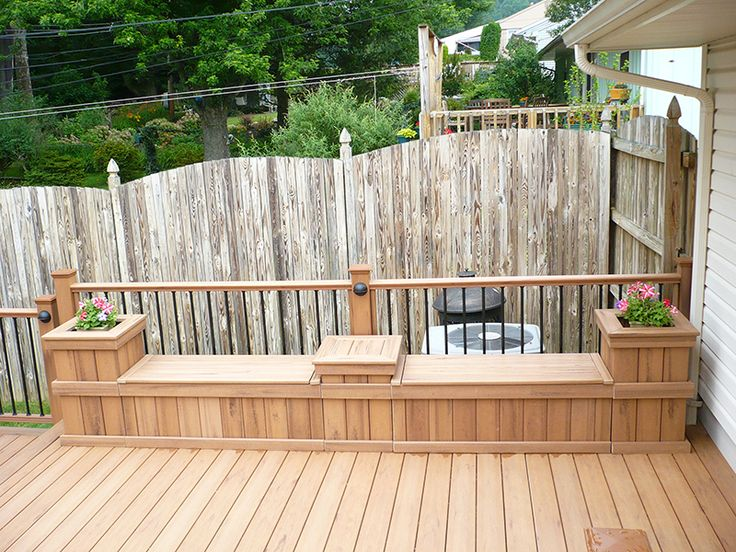 17 best images about decks benches on pinterest Deck storage bench