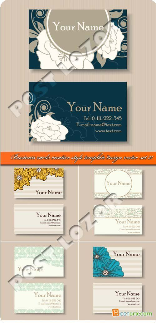Business cards creative style template design vector set 31