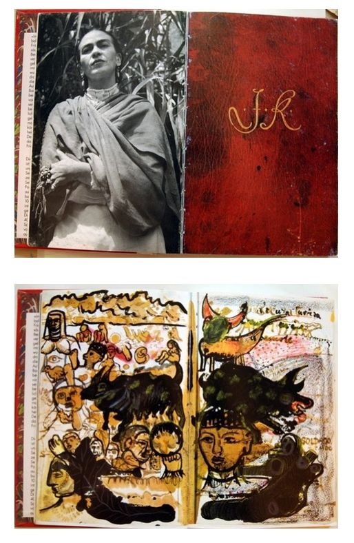 Frida Kahlo's Diary. http://lextraordinary.tumblr.com/post/1058356976/fridas-sketchbook-taken-from-the