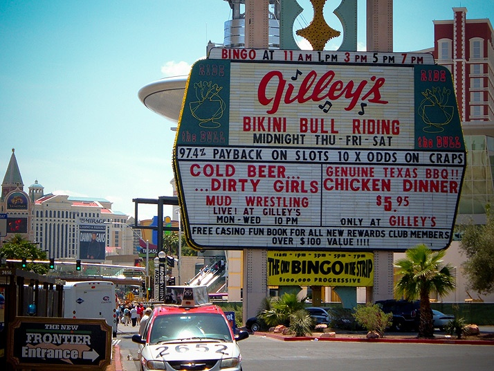 part of the Vegas strip in 1995