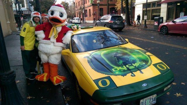 Santa Duck's new sleigh?