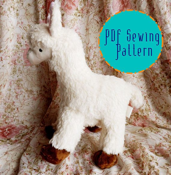 A little plush alpaca toy to make at home from a downloadable pattern - easy and fun to make, either for yourself or as a gift