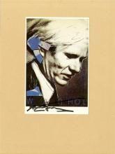 ANDY WARHOL - Portrait of Andy Warhol