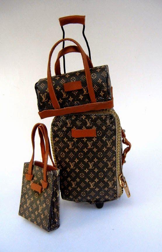 Fashion Doll Stylist: Baggage Claim: DIY Designer Luggage for Barbie. www.fashiondollstylist.blogspot.com