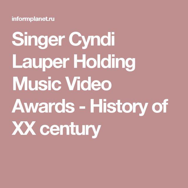 Singer Cyndi Lauper Holding Music Video Awards - History of XX century