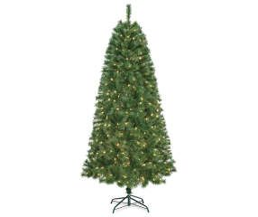 i found a 7u0027 aspen slim prelit artificial christmas tree with clear mini - Christmas Trees Clearance