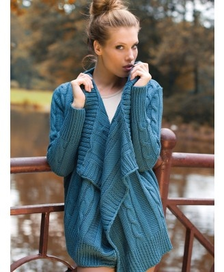 Sweter Model Vicky See blue - Swetry rozpinane, poncza - 2012 - TrendCity.pl