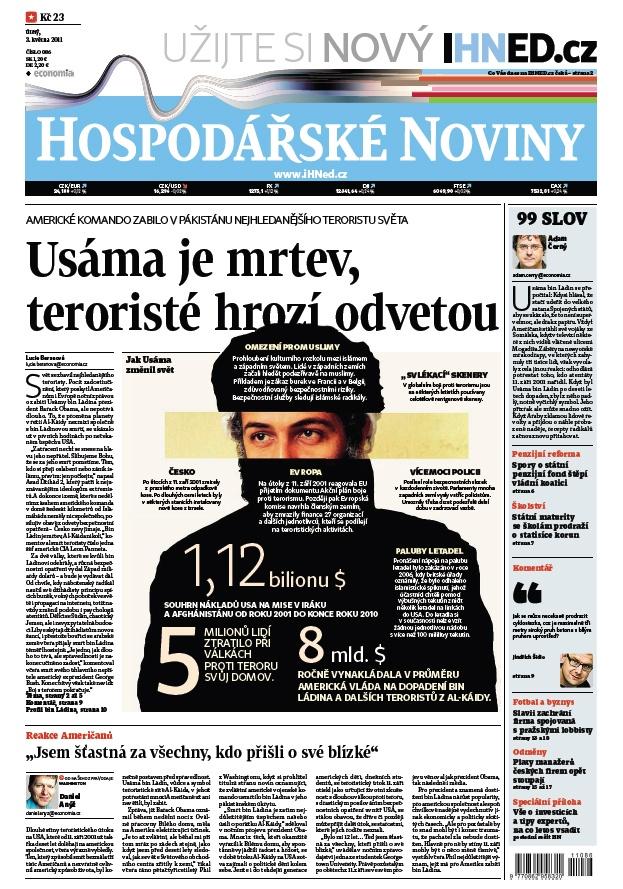 3.5.2011 - Bin Ládin zabit. Svět slaví, Al-Káida chystá revanš