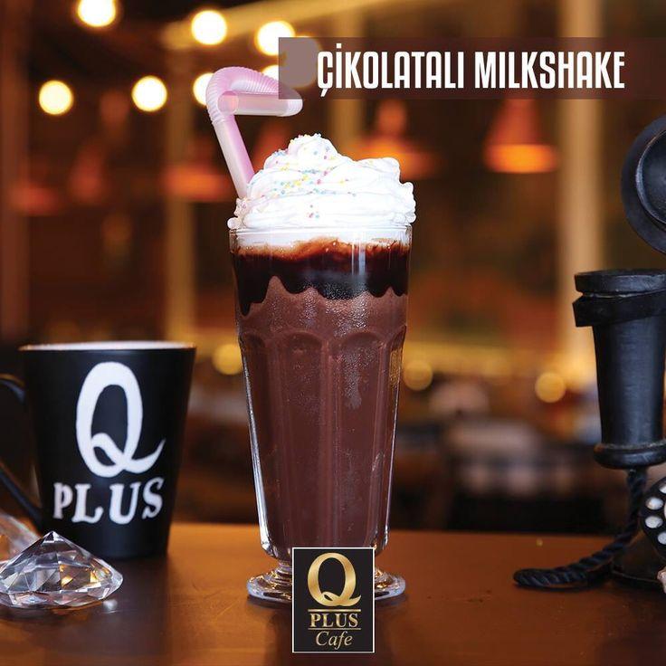 Öğle sıcağında ferahlamak istemez misiniz? Çikolatalı Milkshake'iniz hazır sizi bekliyoruz... #Qpluscafe #Milkshake