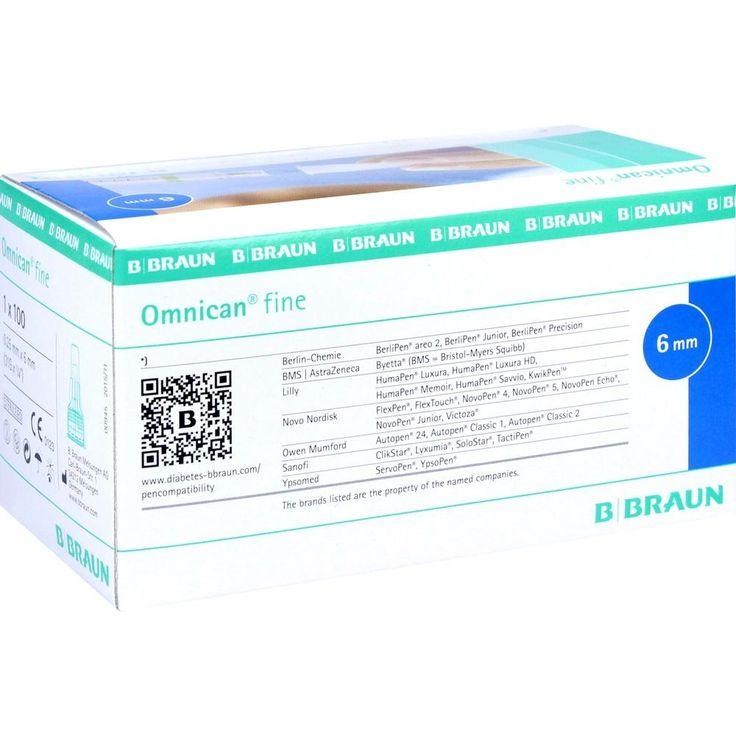 OMNICAN fine Pen Kanüle 31 G 0,25x6 mm:   Packungsinhalt: 100 St Kanüle PZN: 07028645 Hersteller: B. Braun Melsungen AG Preis: 25,66 EUR…